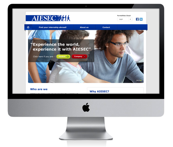 Re-design AIESEC homepage  - Nicetoclick