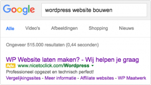 Wordpress website bouwen