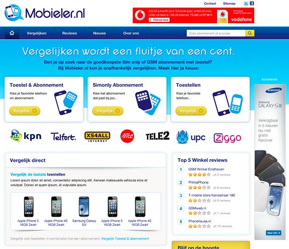 Nu live: Vergelijkingssite voor mobiele abonnementen - Nicetoclick