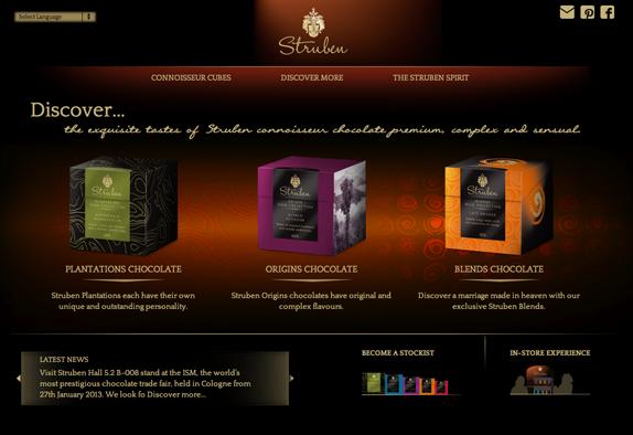 Nicetoclick ontwikkeld nieuwe website voor Struben Chocolate - Nicetoclick