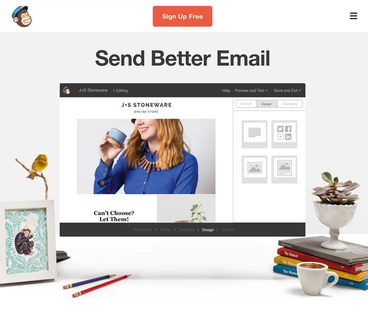 Mailchimp template nieuwsbrief