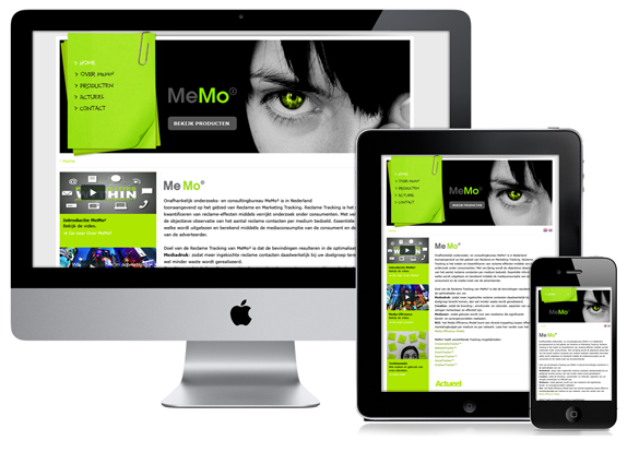 Responsive WordPress website voor MeMo² - Nicetoclick