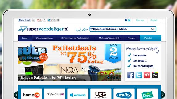 Lancering: Kortingscode website Supervoordeliger.nl - Nicetoclick